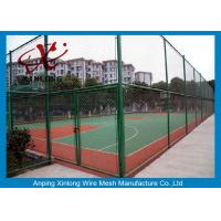 Quality 40*40mm Dark Green Chain Link Wire Fence for Forest Protecting / Football Ground for sale