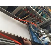 Quality 300mm PVC Ceiling Panel Profile Extrusion Line Conical Double Screw Extruder for sale