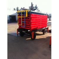 480KG 4.5M Mobile Scissor Lift Table With Wheels , Industrial Lifting Equipment