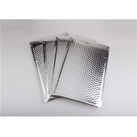 Quality Self Seal Silver Metallic Bubble Mailers , Bubble Wrap Envelopes Recyclable for sale