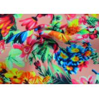 Quality Twill Polyester Fabric / Patterned Printed Polyester With Heat Transfer for sale