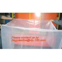 China Plastic Material and PE Plastic Type reusable pallet cover, opaque plastic pallet cover, LDPE Bin lliners Gaylord Liners on sale