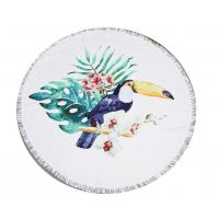 Quality Plush Woodpecker Roundie Beach Towel for sale