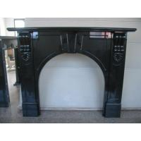 Quality Absolute Bblack Granite Fireplace Surround , Indoor Stone Fireplace  Simple Decorating for sale