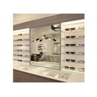 Quality Sunglasses Shop Wall Mounted Display Cabinets With Clear Termpered Glass Shelf for sale