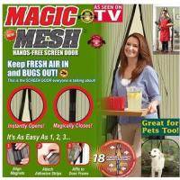 Quality Black / White / Beige As Seen On Tv Magic Mesh Keep Fresh Air In And Bugs Out for sale