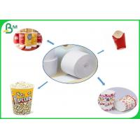 China Eco - Friendly Biodegradable 180gsm 200gsm 230gsm PE Coated Food Grade Paper Roll For Lunch Box on sale
