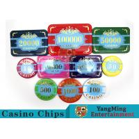 Quality Custom Acrylic Casino Poker Chip Set , New Style Poker Set With Numbered Chips for sale