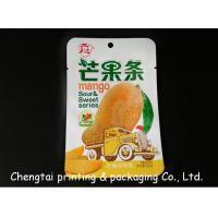 Quality Food Grade Dried Fruit Packaging Pouches / Three Side Seal Bags QS Approval for sale