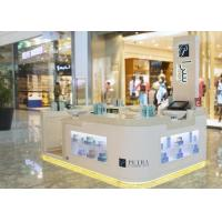 Buy White Cosmetic Display Case Modern Style Small Space For Shopping Mall Display at wholesale prices