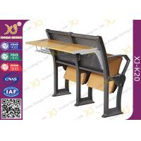 Gravity Return Folded Seat  Lecture Hall Chair Table With Writing Board For University