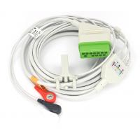 Buy cheap 3 lead 12pin AHA ECG Cable for Nihon Kohden BSM-2301 Patient Monitor from wholesalers