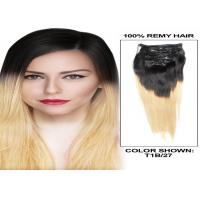 Quality Soft Smooth Full Head Colored Human Hair Extensions 12 - 30 Inch Straight Remy Hair Weave for sale