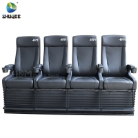 Quality 4D Cinema System PU Leather Motion Seat Black Color With 40 Seats for sale