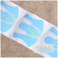 Quality 500 Pieces PVC Gel Nail Forms , Acrylic Nail Art Extension Guide Forms NF74 for sale