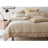 Quality Straight Line Embroidered Solid Duvet Covers , Color Customized Home Duvet Covers for sale