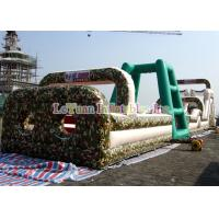 China Boot Camp Inflatable Obstacle Course , Huge Inflatable Outdoor Play Equipment on sale
