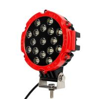 """Quality 51W 7"""" Red Flood Round LED Work Light Off-road Fog Driving Roof Bumper for SUV Boat Jeep Lamp for sale"""