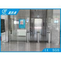 Quality Two Way Turnstile Barrier Gate , Indoor Smart Touch Flap Barrier Turnstile for sale