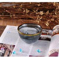 Quality Electroplating Gold Edge Decorative Glass Contianer For Home Fragrance for sale