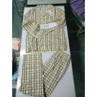 Quality indoor cotton leisure wear men women big size spring pajamas outfits sleeping sets Singapore stock-lot leads for sale