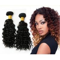 Quality 1B Color Deep Wave Virgin Peruvian Hair Extensions / virgin peruvian natural wave hair for sale
