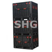 Quality plastic foldable agriculture crates for sale