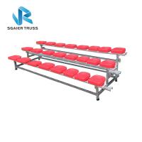 Quality 2 - 5 Rows Outdoor Aluminum Stadium Bleachers Metal Structure Bench Grandstand for sale