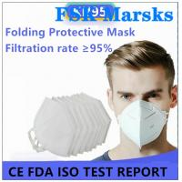 Quality Enlarged Foldable N95 Dust Mask Excellent Bacterial Filtration Melt Blown for sale