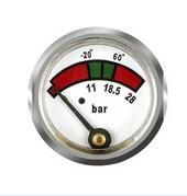 Quality Brass Back Mount Diaphragm Fire Extinguisher Gauge With Mat / Polish Finishing for sale