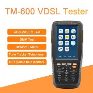 Quality TM-600 VDSL Tester Fiber Optic Tools ADSL/VDSL/OPM/ VFL/TDR Tone Tracker all-in-one unit for sale