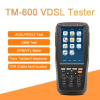 Quality TM-600 VDSL Tester Fiber Optic Tools ADSL/VDSL/OPM/ VFL/TDR Tone Tracker all-in-one unit for sale