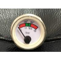 Quality Back Mounting Fire Extinguisher Gauge / Manometer For Powder Fire Extinguishers for sale