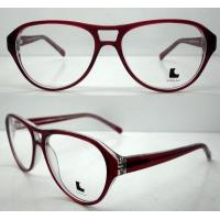 Quality Cool Ladies Retro Large Eyeglasses Frames , Acetate Eyewear Frame for sale