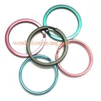 Quality jiayang rainbow color snap hooks  flat key ring and keyring split with chains for sale