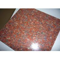 Quality Hotel Lobby Imperial Red Granite Floor Tiles , 12 Inch Granite Tile Size Optional for sale