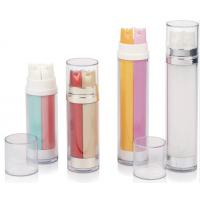 Buy 30ml 40ml 50ml 56ml 100ml cylindrical cosmetic dual chamber dual barrel pump at wholesale prices