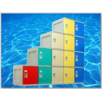 Quality Yellow 4 Tier Lockers with On - Site Assembly For Swimming Pool for sale