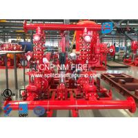 Quality High Prcision Fire Water Pump Package , Fire Pump Skid Package 500GPM@105PSI for sale