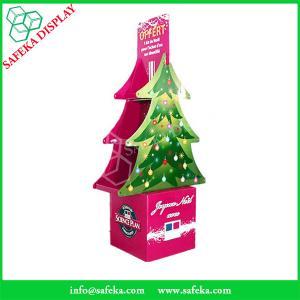 Funko Tree shape Folding displays Commercial retail pop floor stand shelf cardboard floor display for Christmas