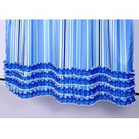 Quality Colorful Ruffle Bathroom Shower Curtains Waterproof Thickening 100% Polyester for sale