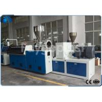 Quality Conical Twin Screw Profile Extrusion Line For Wood Plastic Composite Profile for sale