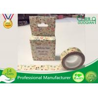 China DIY Japanese Washi Masking Tape 1.5cm X 10m For Wall Decorative And Gift Box on sale