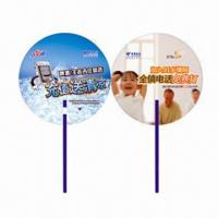 Quality Hand Fans for Promotional Purposes, Customer's Logos Printings are Available, Made of PP for sale