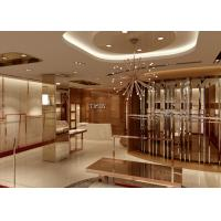 Buy Lady Apparel Showroom Retail Clothing Fixtures Rose Gold Stainless Steel at wholesale prices
