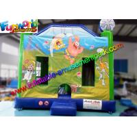 Quality Sponge Bob Inflatable Bouncer Slide , Inflatable Jumping Slide With High Quality for sale