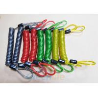 Quality 3.0MM Plastic Coil Lanyard Custom Colours PU Coating With 2 Rope Loop Ends for sale