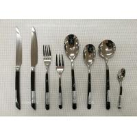 China Stainless Steel Flatware Sets of 13 Pieces Black-Plated Handles Knives Forks Spoons on sale