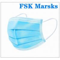 Quality Comfortable Hospital Mouth Mask Disposable Non Woven Face Mask Anti Pollution for sale