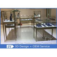 Buy cheap High End Stainless Steel Jewelry Store Showcase With Lighting For Shopping Mall from wholesalers